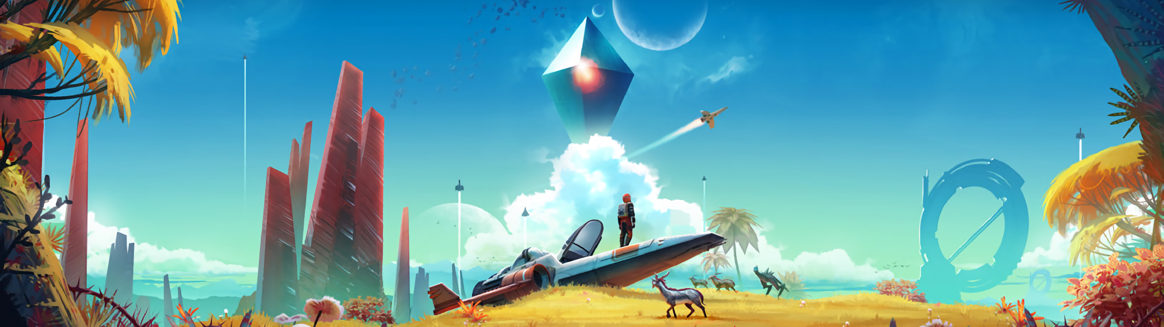 Request 3840x1080 No Man S Sky Atlas Rises Update Multiwall