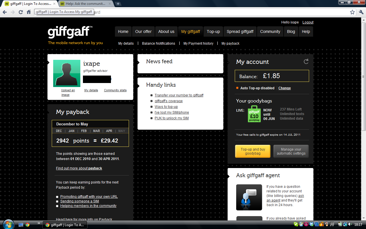 giffgaff app available at Google Play and App store | giffgaff